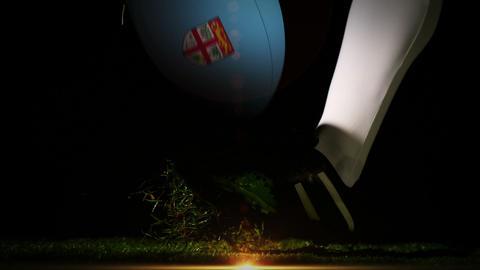 Player kicking fiji rugby ball Animation