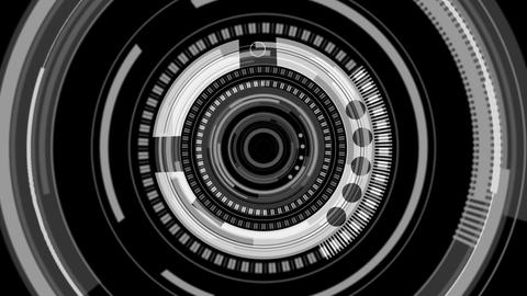Dial interface in black and grey Animation