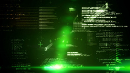 Technology interface in black and green Animation