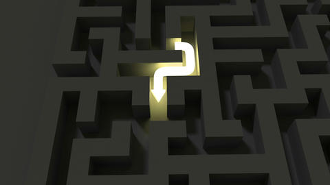 Bright line solving a dark maze puzzle Animation