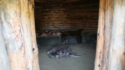 Dwelling of the Stone or Bronze Age, inside view Live Action