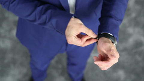 Elegant Men Wear Watches stock footage