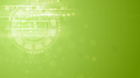 Hi-tech light green shiny video animation Animation