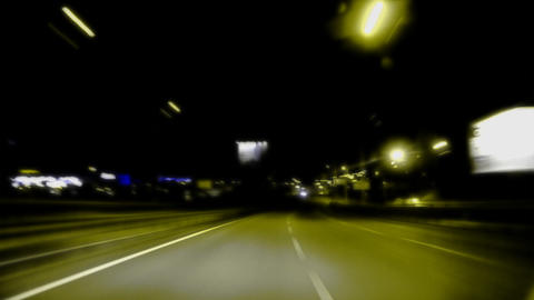 Night road. Yellow and black & white Filmmaterial