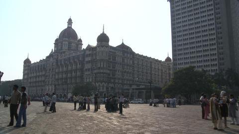 Taj Mahal Palace & Tower Hotel - Mumbai, India stock footage