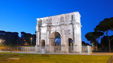 Arch of Constantine at dawn. Rome. Italy Footage