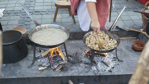 Medieval Cook Woman Footage