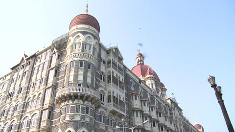 Taj Mahal Palace And Tower Hotel - Mumbai, India stock footage