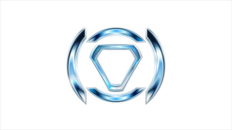 Modern bright tech logo video animation. Three colors Animation