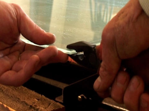 glass cutting Footage