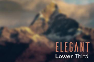 Elegant Lower Third stock footage