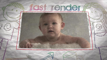 Kids Memories Slideshow After Effects Project