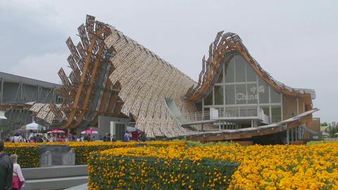 China Pavilion Milan Milano Expo 2015 Italy International Exposition Exhibition Footage