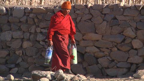 Buddhist Monk Footage