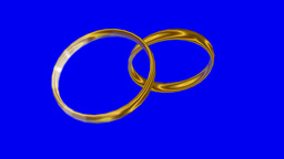 Two rings moving/ rotating with reflecting light, loopable Animation