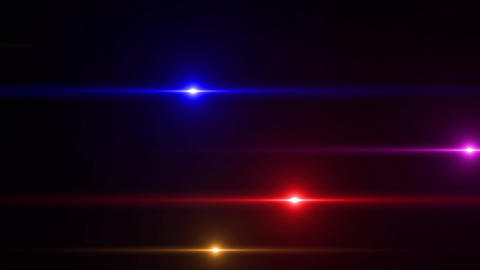 Colorful optical flare lines Animation