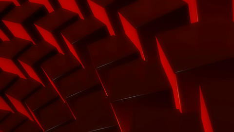 red cube array Animation