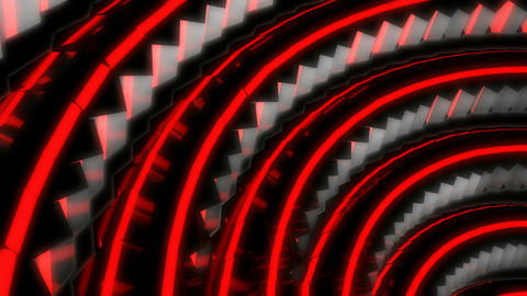 red neon spin Animation