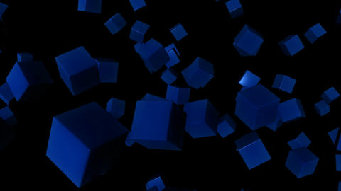 blue random cubes Animation