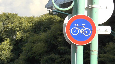 Bicycle Signal stock footage