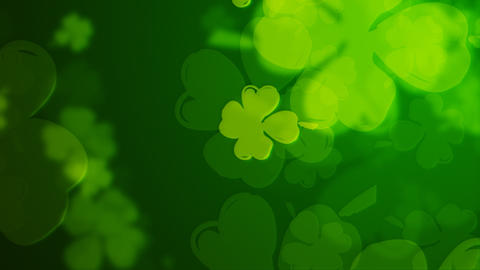 Loopable clover background Stock Video Footage