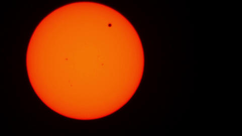 Transit of Venus 2012 06 Timelapse Stock Video Footage