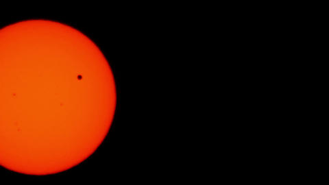 Transit of Venus 2012 11 1 Stock Video Footage