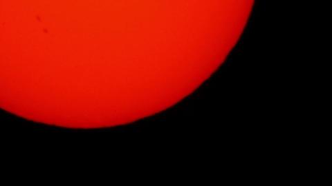Transit of Venus 2012 06 Timelapse Stock Video Footage