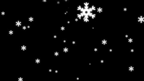 Loopable Snow Fall Animation with Alpha Channel Stock Video Footage
