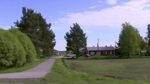 View from the Car Window on the Roadside Stock Video Footage