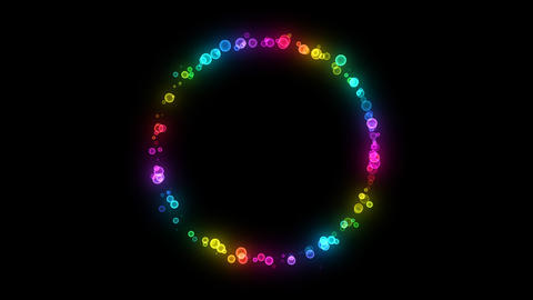 Neon LED Dot10 Fa2 HD Stock Video Footage
