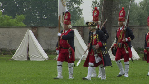 brandeburg grenadier 01 Stock Video Footage