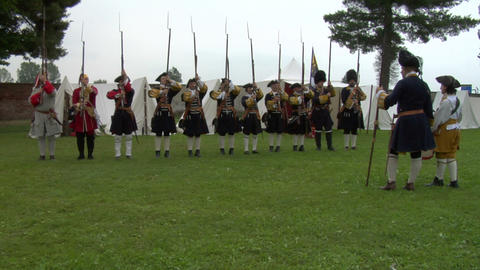 kalbermatten infantry 02 Stock Video Footage