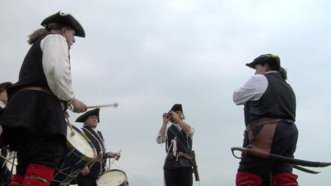 military drum 01 Stock Video Footage