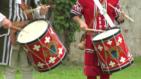 military drum 03 Stock Video Footage