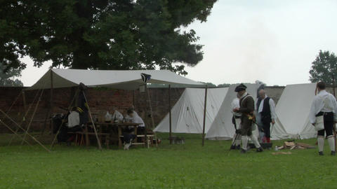 military encampment 02 Stock Video Footage