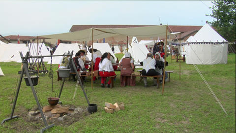 military encampment 04 Stock Video Footage