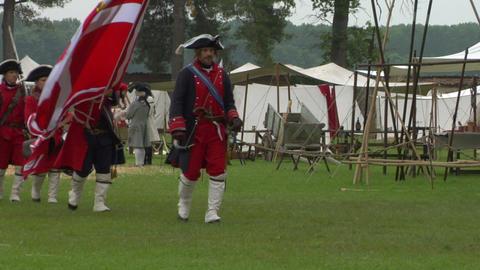 royal venaria guard 02 Stock Video Footage