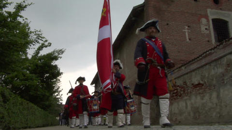 royal venaria guard 04 Stock Video Footage