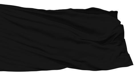 Waving black blank flag Stock Video Footage