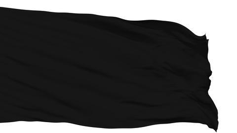 Waving black blank flag Animation
