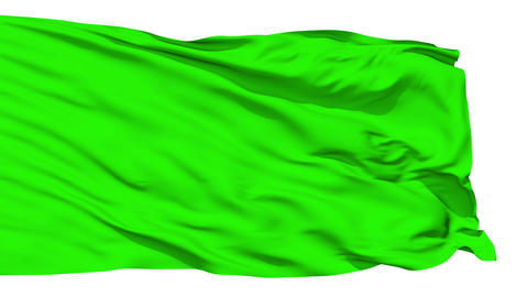 Waving green blank flag Stock Video Footage
