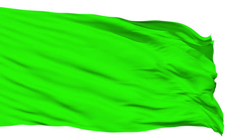 Waving green blank flag Animation