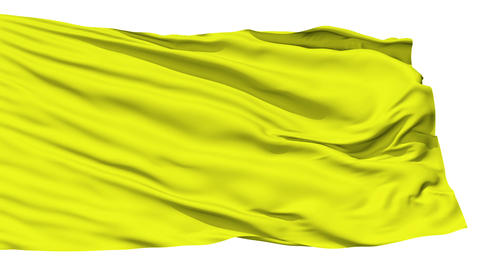 Waving yellow blank flag Stock Video Footage