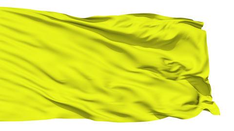 Waving yellow blank flag Stock Video Footage