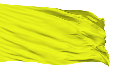 Waving yellow blank flag Animation