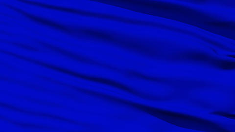 Waving blue blank flag closeup Stock Video Footage