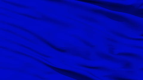 Waving blue blank flag closeup Animation