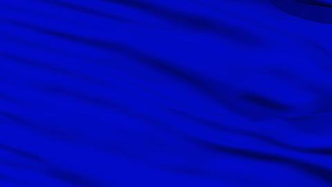 Waving blue blank flag closeup Stock Video Footage