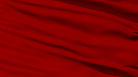 Waving red blank flag closeup Stock Video Footage